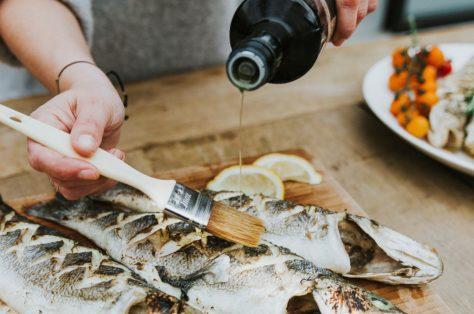 Vis op de BBQ