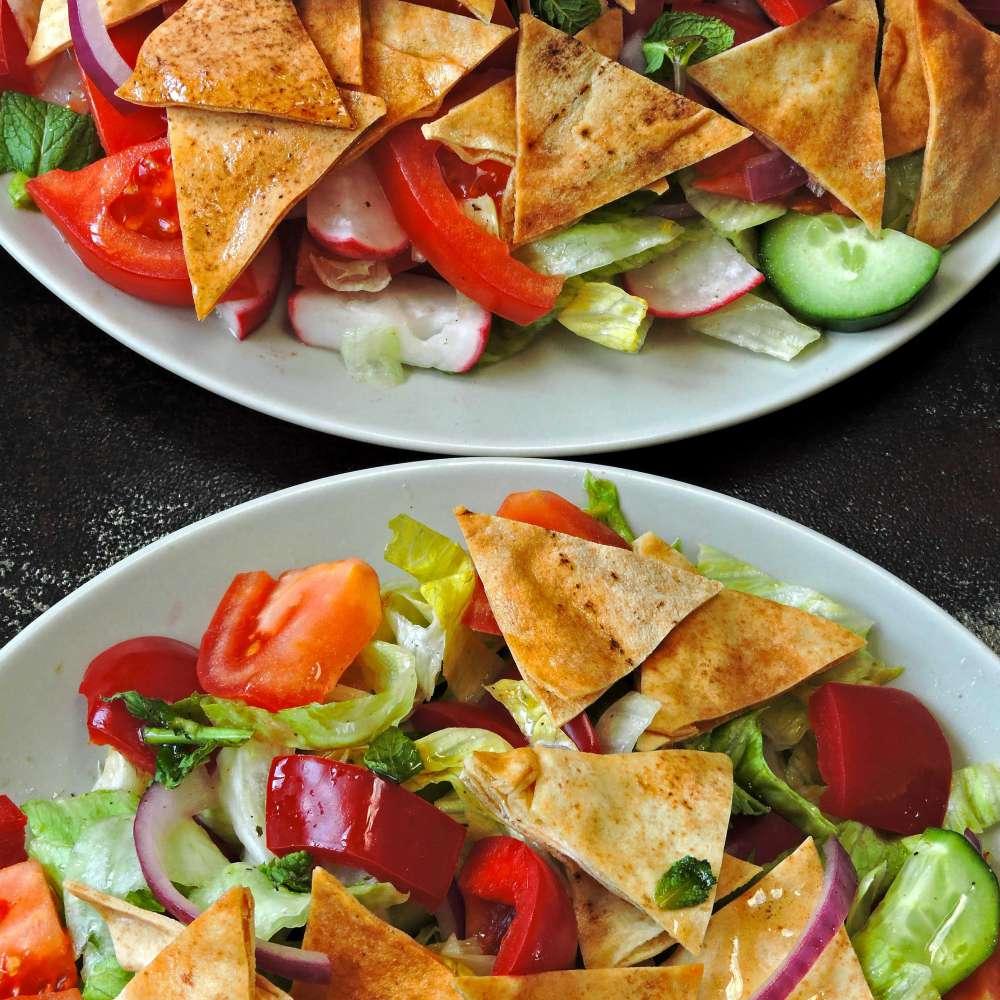 Fattush salad middle eastern style 1 min