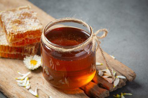 Delicious honey dark surface