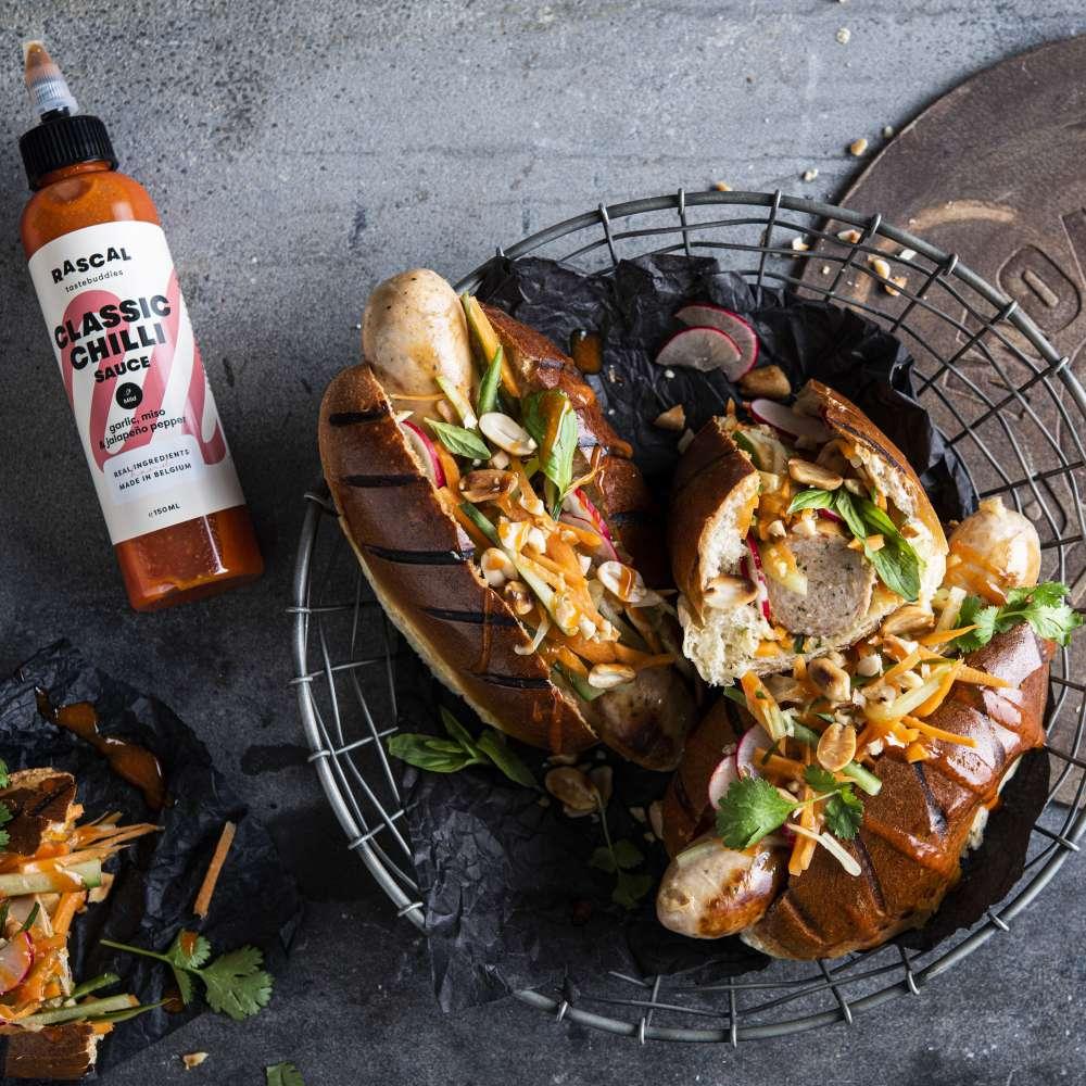 IG MONSIER BOUDIN en RASCALL aziatische sandwich chili sauce kopie